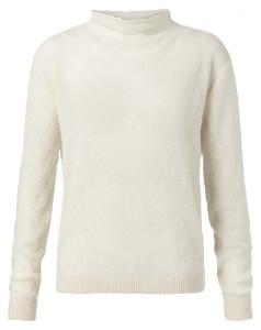 Ya-Ya Sand Alpaca Blend Sweater with Knitted Pattern - small