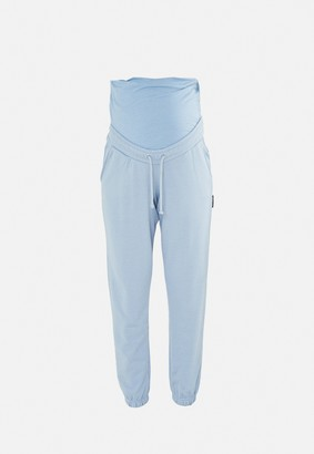 Missguided Blue 90'S Maternity Joggers