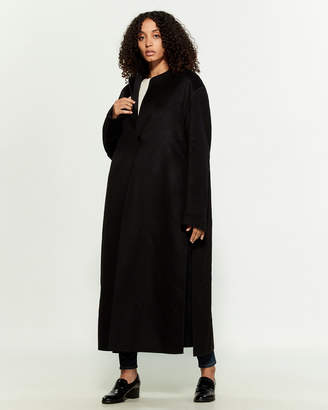 Jil Sander Black Two-Piece Cashmere Coat