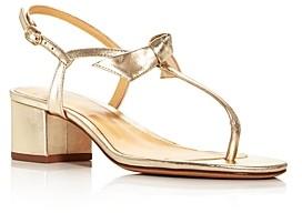 Alexandre Birman Women's Clarita T-Strap Block Heel Sandals