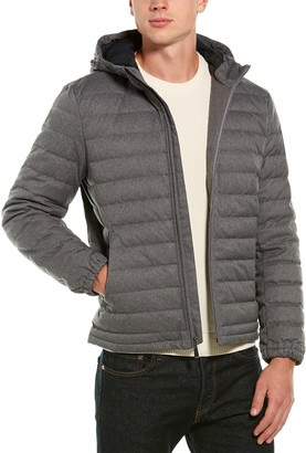 Brooks Brothers Quilted Down Bomber Jacket