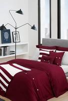 Lacoste Brushed Twill Comforter Set - Cabernet