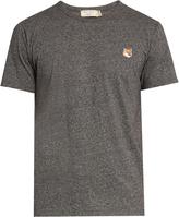 MAISON KITSUNÉ Fox-appliqué crew-neck T-shirt