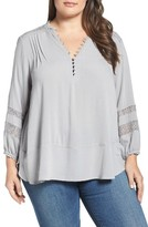 Democracy Plus Size Women's Henley Blouse