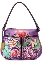 Anuschka Zip-top With Expandable Pockets Shoulder Bag