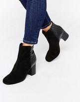 Miss KG Croc Mix Heeled Boots