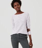 LOFT Textured Shirttail Sweater