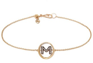 Annoushka Yellow Gold and Diamond Initial M Bracelet
