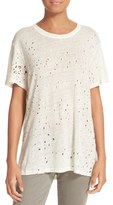 IRO Women's Distressed Linen Tee