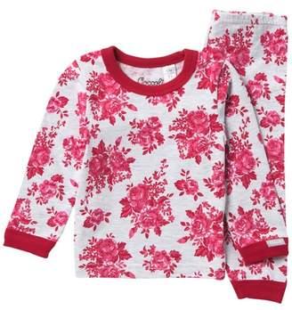 Coccoli Floral Heathered Pajama Set (Baby Girls)