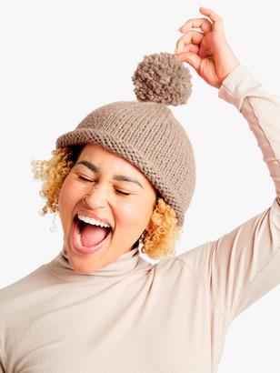 Wool And The Gang Reese Beanie Hat Knitting Kit, Sahara