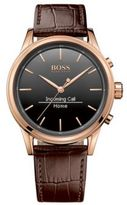 Hugo Boss 1513451 Leather Croc-Embossed Rose Gold Tone Smart Watch One Size Assorted-Pre-Pack