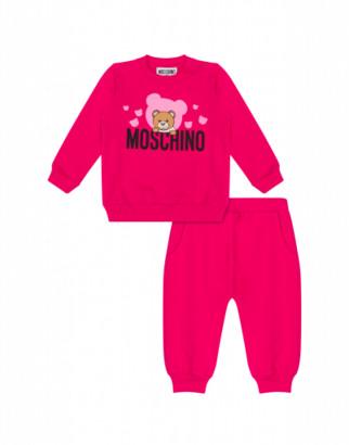 Moschino Teddy Bear Full Suit Unisex Fuchsia Size 3a It - (3y Us)