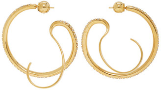 Panconesi Gold Small Upside-Down Hoops