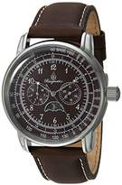 Burgmeister Men's Quartz Metal and Leather Casual Watch, Color:Brown (Model: BM335-195)