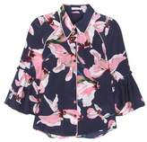 Erdem Aran printed silk blouse