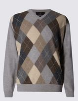 Marks and Spencer Pure Lambswool Argyle Jumper