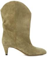 Isabel Marant Dernee Suede Ankle Boots - Womens - Beige