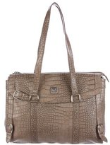 Diane von Furstenberg Embossed Leather Laptop Bag