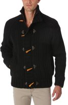 Schott NYC Men's Cardigan Black Black