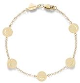 Alison Lou 14K Gold Smile By The Yard Bracelet