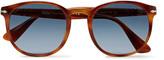 Persol Round-Frame Tortoiseshell Acetate Sunglasses