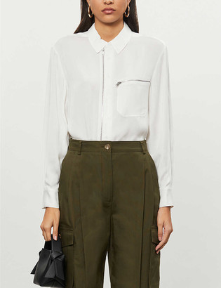Reiss Caro zipped woven shirt