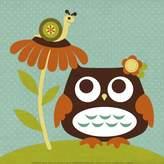 Art.com Owl Looking at Snail