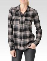Paige Mya Shirt - Black/Grey/Adobe Rose with Studs