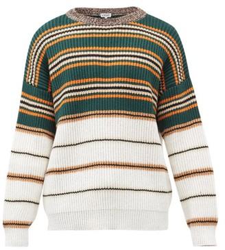 Loewe Striped Cotton-blend Jersey Sweater - Multi