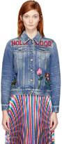 Gucci Blue Denim Hollywood Bunny Jacket