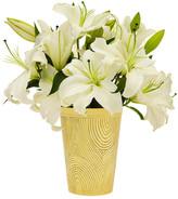 Oscar de la Renta Large Faux Bois Vase