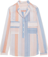 Stella McCartney Striped Cotton-blend Blouse - Ivory