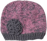 2H Hand Knits Knit Hat - Pewter/Wild Orchid-Small