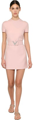 Valentino Belted Crepe Couture Mini Dress