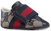 Gucci Infant Boy's 'Icon' Crib Shoe