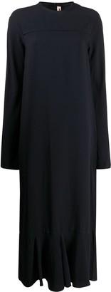 Marni Long Ruffled Hem Dress