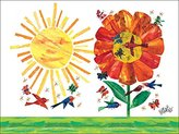 Oopsy Daisy Fine Art For Kids Garden Stretched Canvas Art by Eric Carle, 24 by 18-Inch