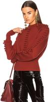 Chloé Bobble Knit Crew Neck Sweater
