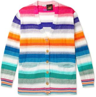 Loewe + Paula's Ibiza Striped Cotton Cardigan
