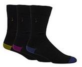 J By Jasper Conran Designer Pack Of Three Black Plain Tipped Socks