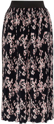 Paco Rabanne Pleated Floral Midi Skirt