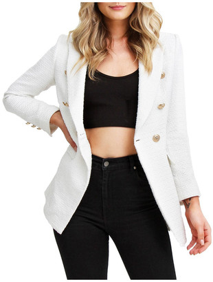 Belle & Bloom Princess Polly Rice Tweed Blazer