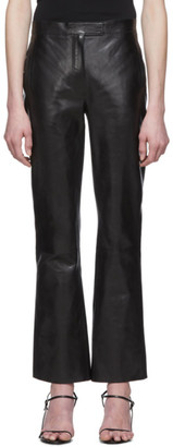 The Row Black Leather Jonell Pants
