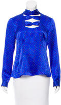 Nanette Lepore Silk Bow-Accented Top w/ Tags