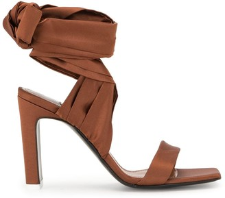 ATTICO Wrap-Around Ankle Tie Sandals