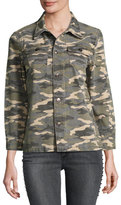 True Religion Nora Shirt Jacket, Vintage Camo