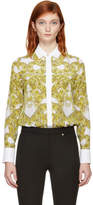 Versace White Silk Baroque Shirt