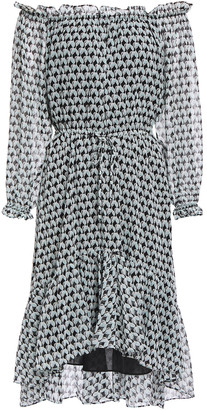 Diane von Furstenberg Camilla Off-the-shoulder Gathered Printed Chiffon Dress