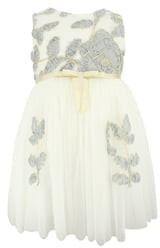 Popatu Floral Embroidered Tulle Dress